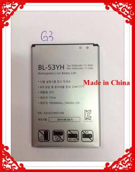 100% Original Real 3000mAh Battery BL-53YH BL 53YH For LG Optimus G3 D855 D853 VS985 D830 D850 D851 D858 F400 F400L F400S F400S