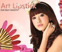 2PCS/LOT Charm red lip gloss nude color makeup 100% high quality fresh moisture moisturizing sexy lipstick