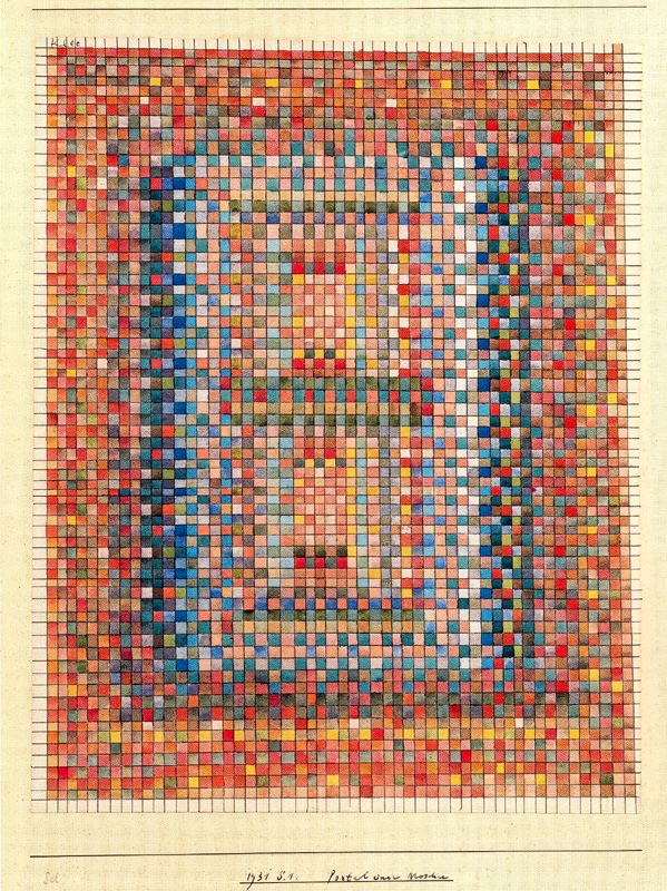 Portal of a Mosque Paul Klee Painting print poster(China (Mainland))