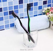 Beautiful bamboo charcoal fiber soft bristle toothbrush bamboo toothbrush