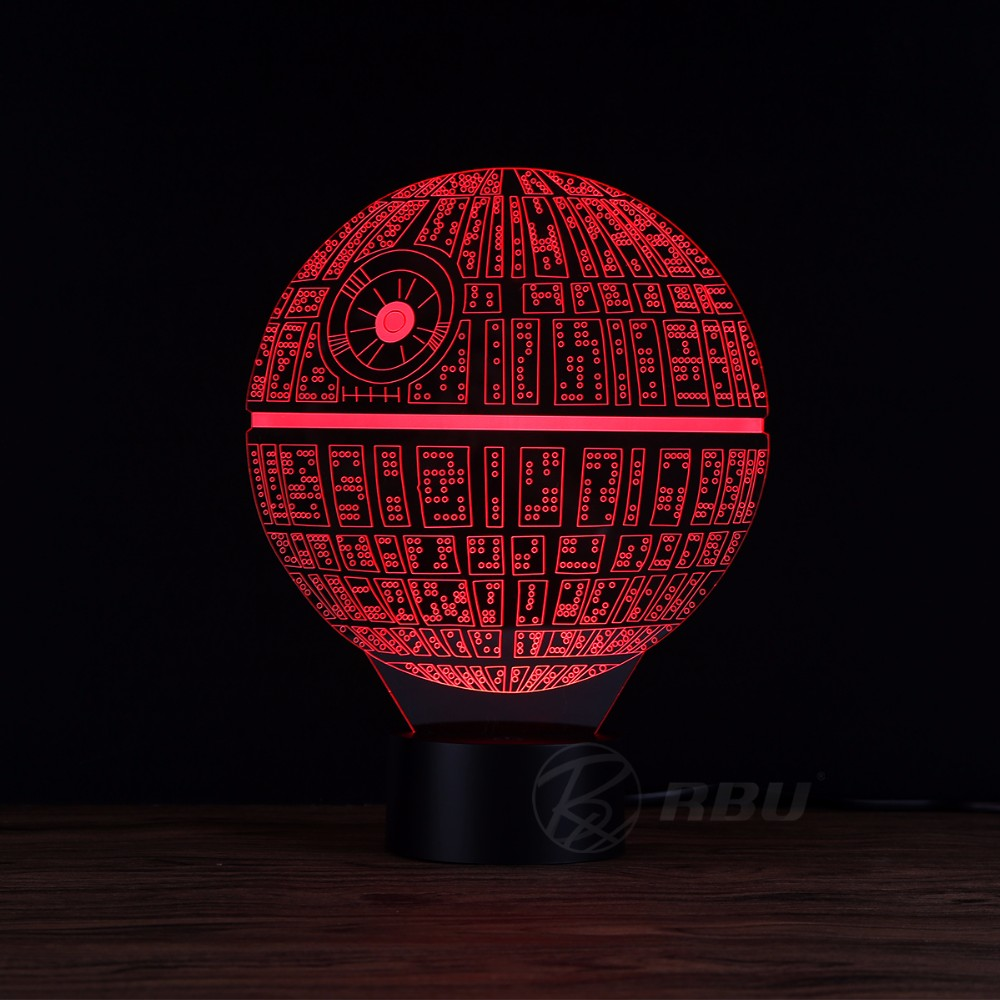 star wars death star 3d lamp touch table lampe 7 colors changing 3d desk light luminaria led lamp novelty usb led night lights