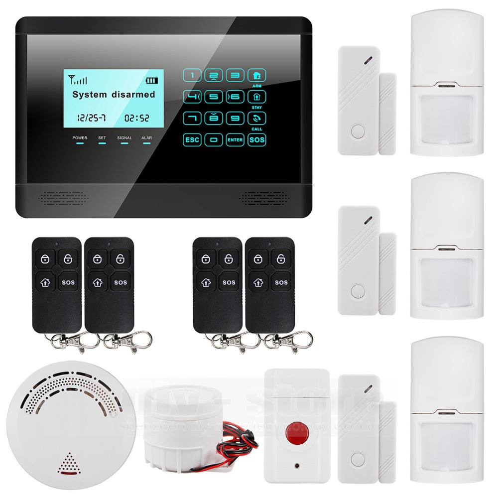 433 GSM MHz SMS wireless sensor home alarm system LCD screen home intruder voice 850 / 900 / 1800 / 1900MHz(China (Mainland))