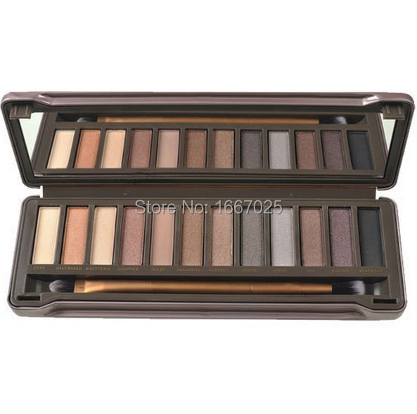 Гаджет  Hot Professional nake 12 Color Eyeshadow Palettes nk 2 Earth Tone Eye Shadow with Blusher Party Wedding NK2 Makeup Drop shipping None Красота и здоровье