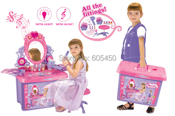 little girl makeup toys child accessories toy storage box princess combination. Black Bedroom Furniture Sets. Home Design Ideas