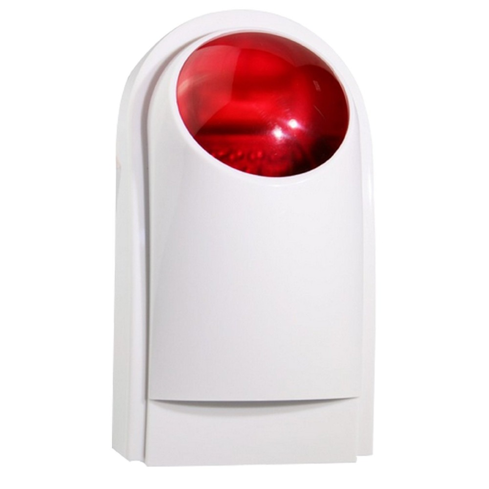 Wireless Strobe Siren with Backup Battery For Home Alarm Systems Outdoor(China (Mainland))