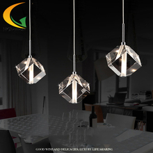 HGHomeart Led restaurant lamps three crystal hanging lamp lighting bar atmosphere living room personalized creative lighting(China (Mainland))