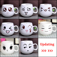 320ml Creative Cute Expression Ceramic Mugs Water Container Cups And Mugs Porcelain Tea Cup Coffee Mug Wholesale(China (Mainland))