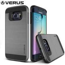 VERUS Neo Hybrid Tough Slim Armor Cases for Samsung Galaxy S6 / S6 edge Luxury Brand Plastic Brushed Phone Bag Back Cover(China (Mainland))
