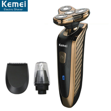 Buy KEMEI 363 Electric Shaver Rechargeable Washable 4 Heads Razor 3 1 Blade Shaving Razors Men Face Care 4D Floating Trimmer for $27.29 in AliExpress store