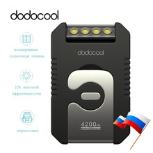 dodocool Power Bank with 4 LED Flashlight 4200 mAh Solar Panel Portable Charger External Battery Powerbank For iPhone Xiaomi HTC(China (Mainland))