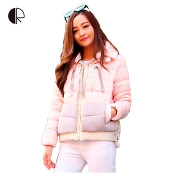 Новый 2015 пиджаки женщин зимний пуховик вниз свободного покроя зимняя куртка женщин размер L-XXXL парки женщин