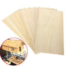 10 Sheets 100 x 200 x 1.5mm Model Balsa Wood Can be Used for a Variety of Models of DIY Production Without Burr(China (Mainland))