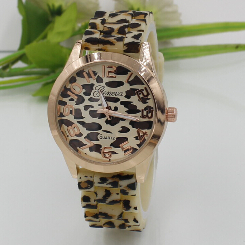 Relojes Mujer 2016 Relogio Feminino Casual Quartz Watch Fashion Geneva Women Leopard Silicone Strap Dress Watches - iWatches store