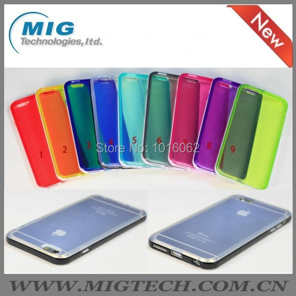 10 PC Bumper+TPU clear transparent phone Case , apple iphone 6 4.7'' - MIG Technology store