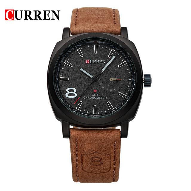 Curren luxury brand quartz watch Casual Fashion Leather watches reloj masculino men watch free shipping Sports Watches 8139(China (Mainland))
