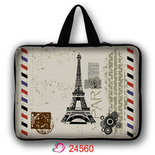 Eiffel Tower Neoprene Laptop Bag Notebook Netbook Sleeve Cases Tablet Pouch For 10 13.3 15.6 17 inch Computer Briefcase LB-24560