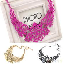 Fashion Women Hollow Bib Choker Statement Vintage necklaces pendants 1H9G(China (Mainland))