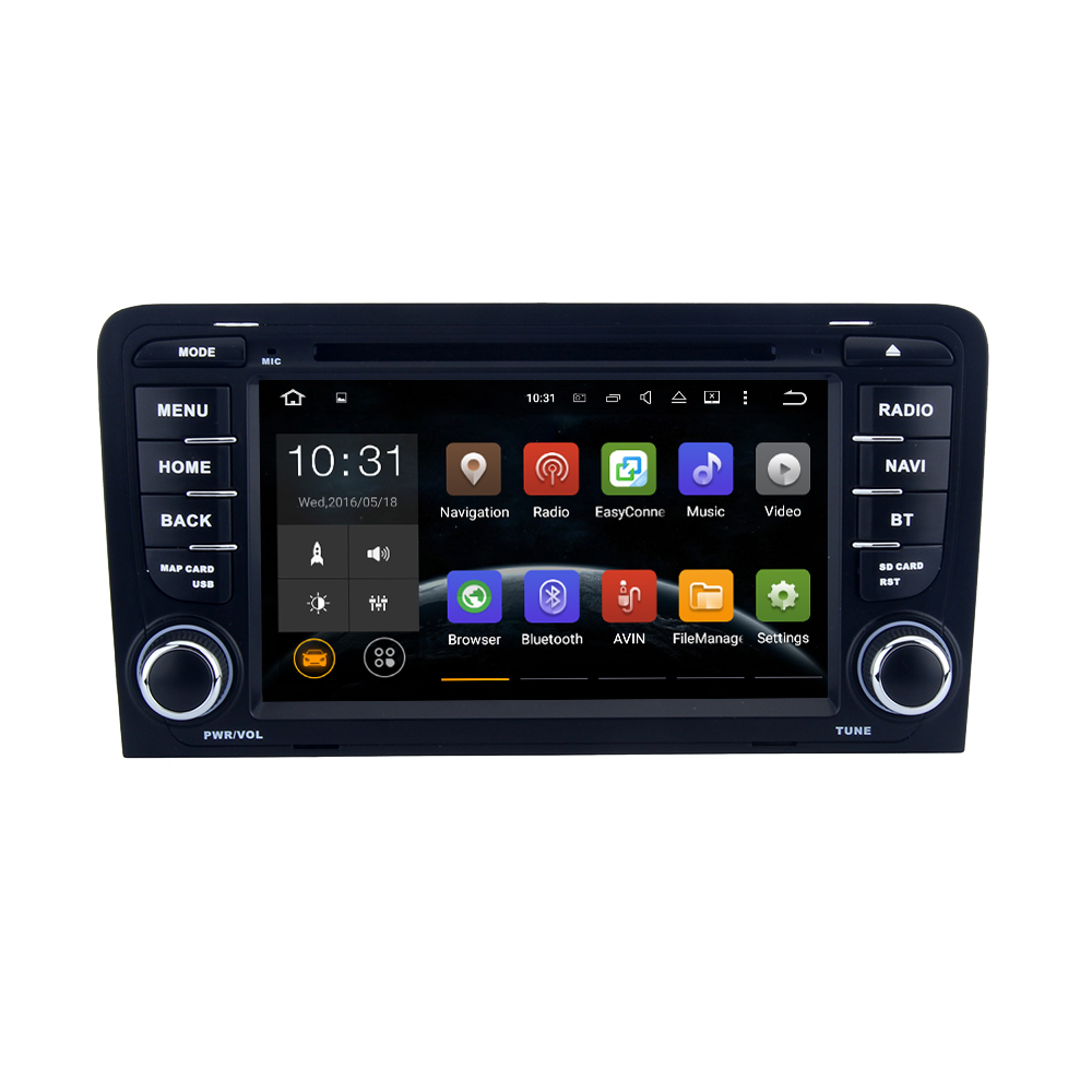 Android 5.1.1 Lollipop for Audi A3 (2003-2013) Audi S3 (2003-2011) 7 Inch Car DVD stereo radio WIFI BTsupport OBD review camera(China (Mainland))