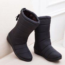 2019 neue Frauen Stiefel Winter Frauen Knöchel Stiefel Wasserdichte Warme Frauen Schnee Stiefel Frauen Schuhe frauen Stiefel(China)