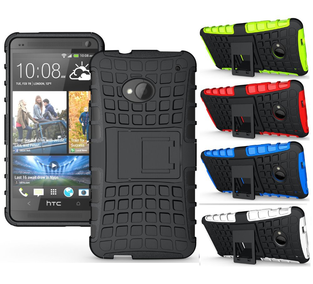 Гаджет  Unique Grenade Grip Rugged Rubber Skin Cover Anti-Dust Hard Stand Silicon Case For HTC ONE M7 Free Shipping None Телефоны и Телекоммуникации