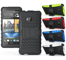 Unique Grenade Grip Rugged Rubber Skin Cover Anti-Dust Hard Stand Silicon Case For HTC ONE M7 Free Shipping