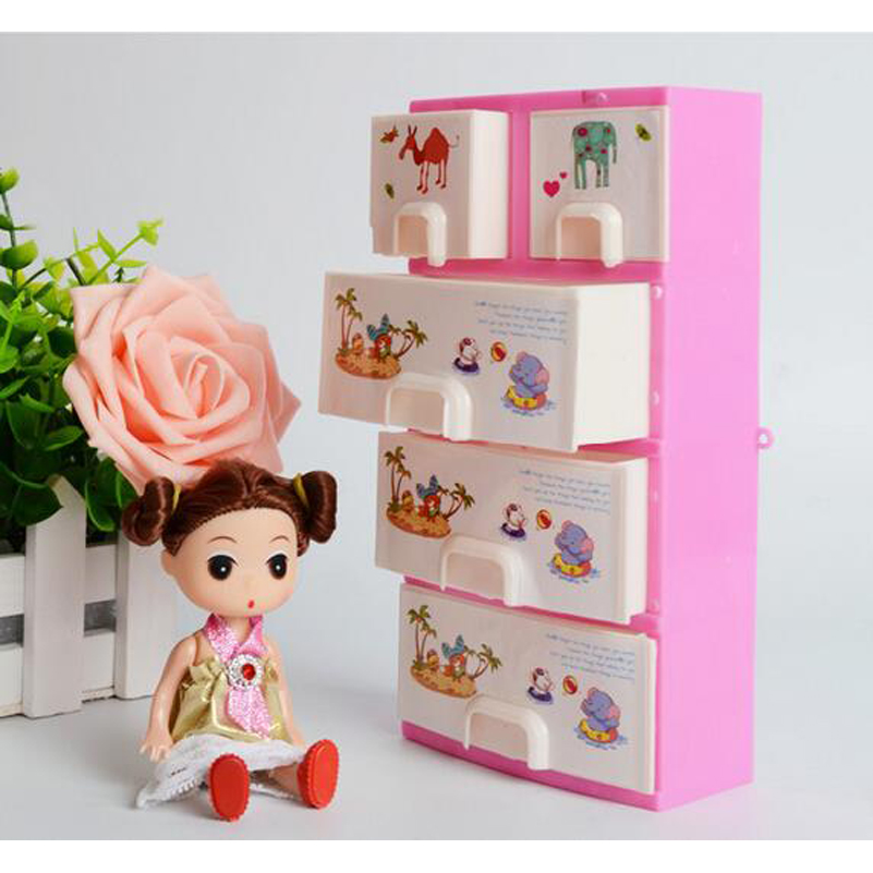 Pink Closet Wardrobe Storage Cabinet Doll Furniture Princess Bedroom Doll Accessories For Doll Girl Dollhouse Bedroom Furniture(China (Mainland))