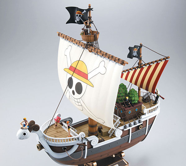 Фотография One Piece Going Merry Ship Action Figure Special Japanese Anime Figure pvc 28CM Model free shipping