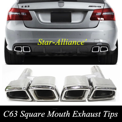 Square exhaust pipes for mercedes benz c class w204 e for Mercedes benz c300 exhaust