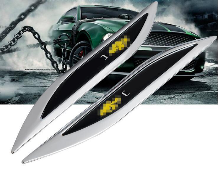 5 Pairs Chrome Metal Car Fender Sticker Decoration Car Emblems Accessories for Chevy MALIBU EPICA CRUZE AVEO SAIL CAPTIVA(China (Mainland))