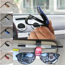 Accessories Car Auto Sun Visor Glasses Sunglasses Clip Card Ticket Holder Pen Case Box Universal(China (Mainland))