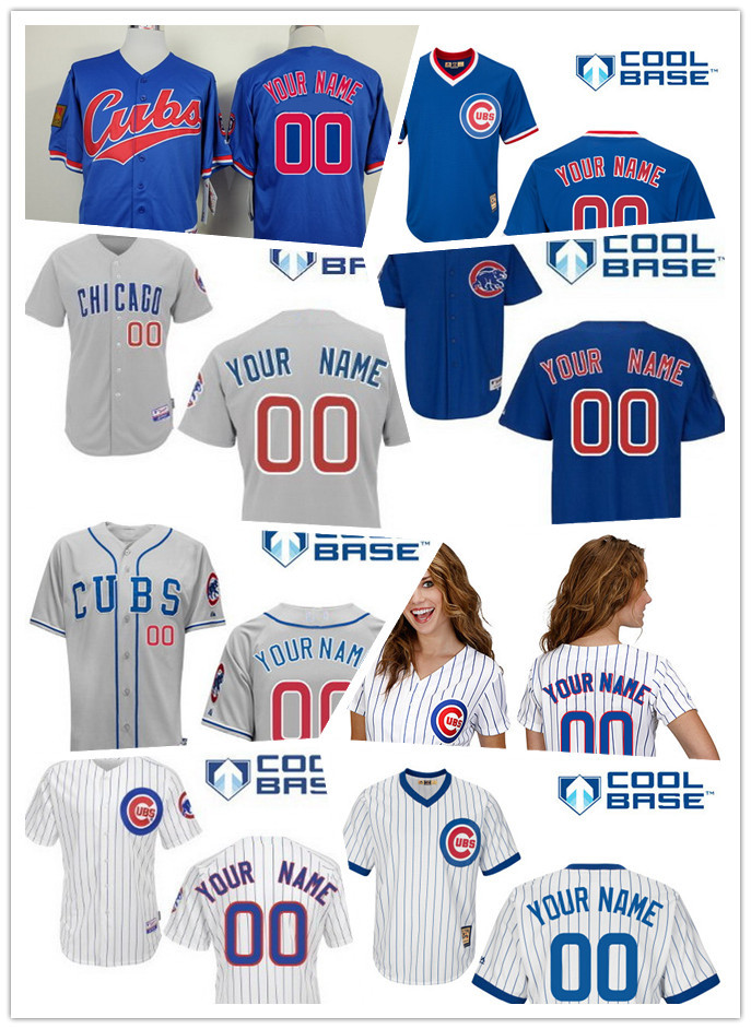 Custom Chicago Cubs jersey Chicago Cubs Personalized Cool Base Pullover VINTAGE baseball Jerseys W/ 100 Years Cheap Embroidery<br><br>Aliexpress