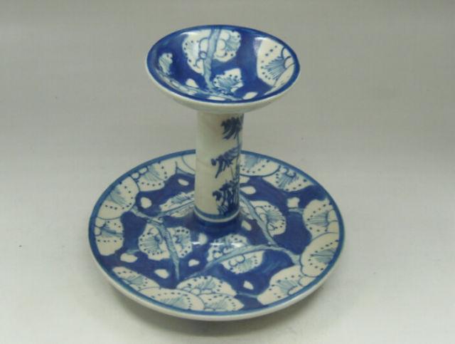 Compra azul candelabro de cerámica para la decoraci&oacute ...