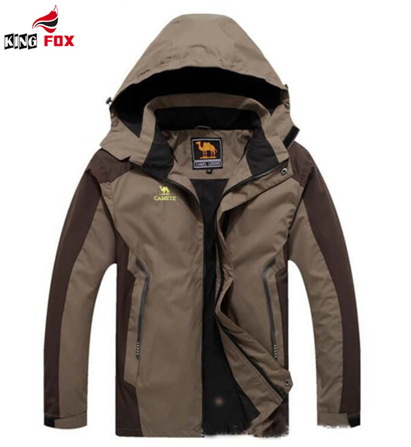 KING FOX spring Autumn Men women Outdoor Waterproof Jacket Camping Outdoor Jackets Hunting Climbing Sport coat big size 5XL,6XL(China (Mainland))