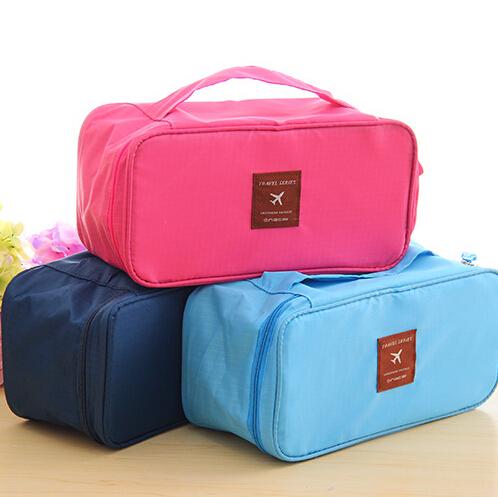 26.5cm13cm*12cm Portable Protect Bra Underwear Lingerie Case Travel Organizer Bag wardrobe Waterproof travel accessories(China (Mainland))