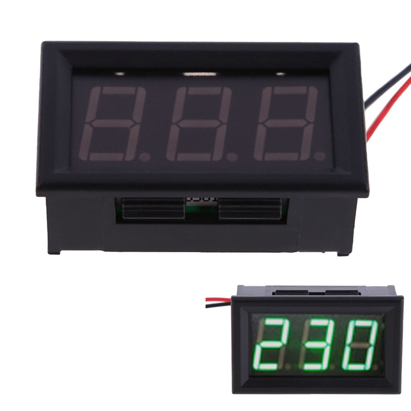 FW1S YB27A LED AC 60 500V Digital Voltmeter Home Use Voltage Display w 2 Wires