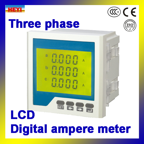 three phase ac digital ampere meter digital current meter. Black Bedroom Furniture Sets. Home Design Ideas