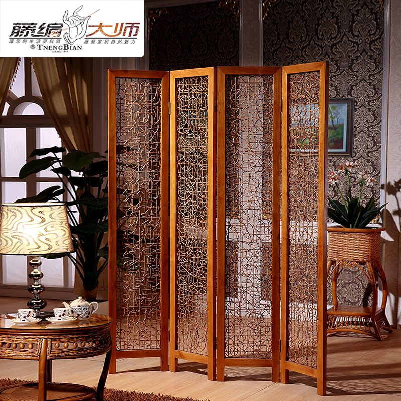 Rattan furniture rattan screen folding screen fashion rattan screen off screen-inScreens & Room ...