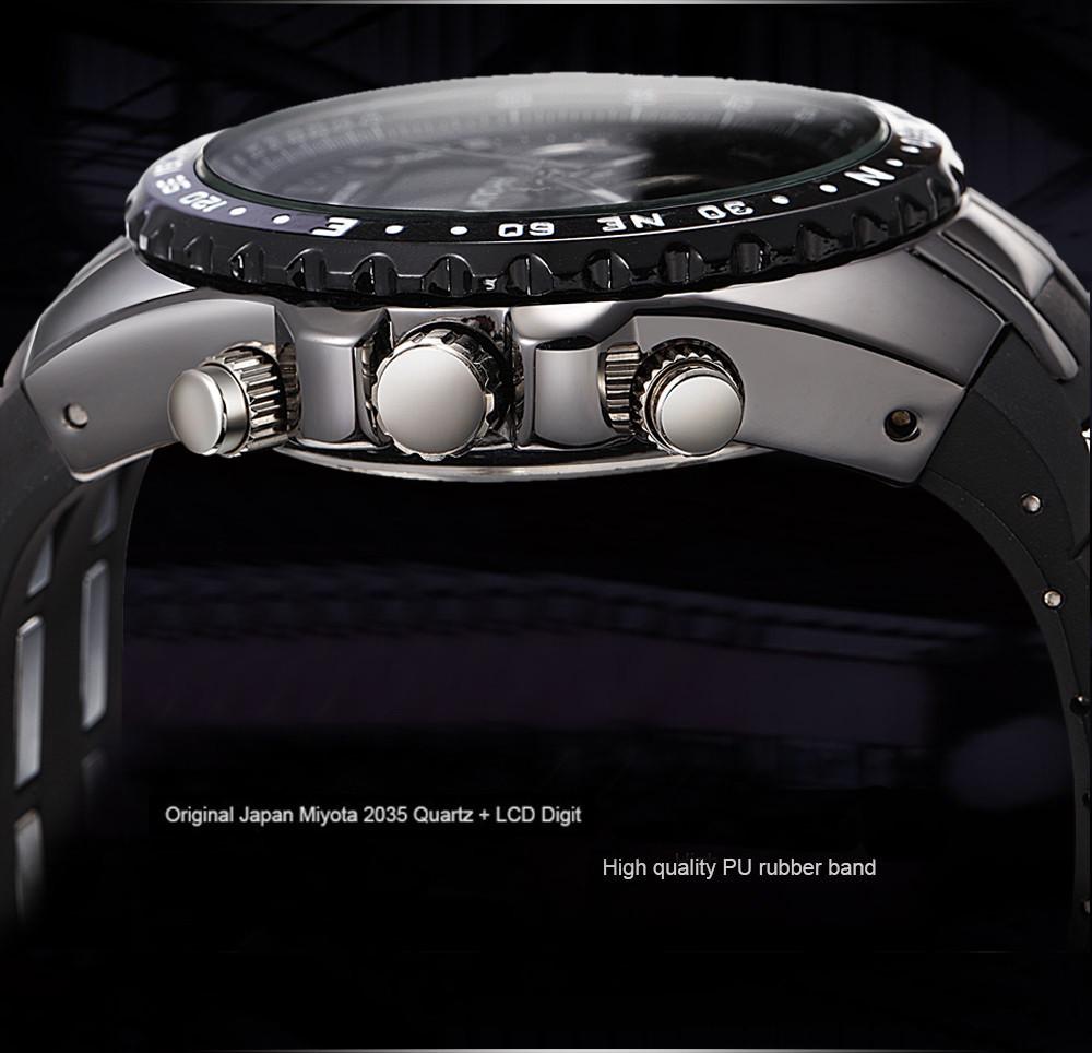 2015 часы мужские спортивные наручные военные часы hombre дайв-цифровой LED-дисплей, мужской часы кварцевые мужские часы наручные часы