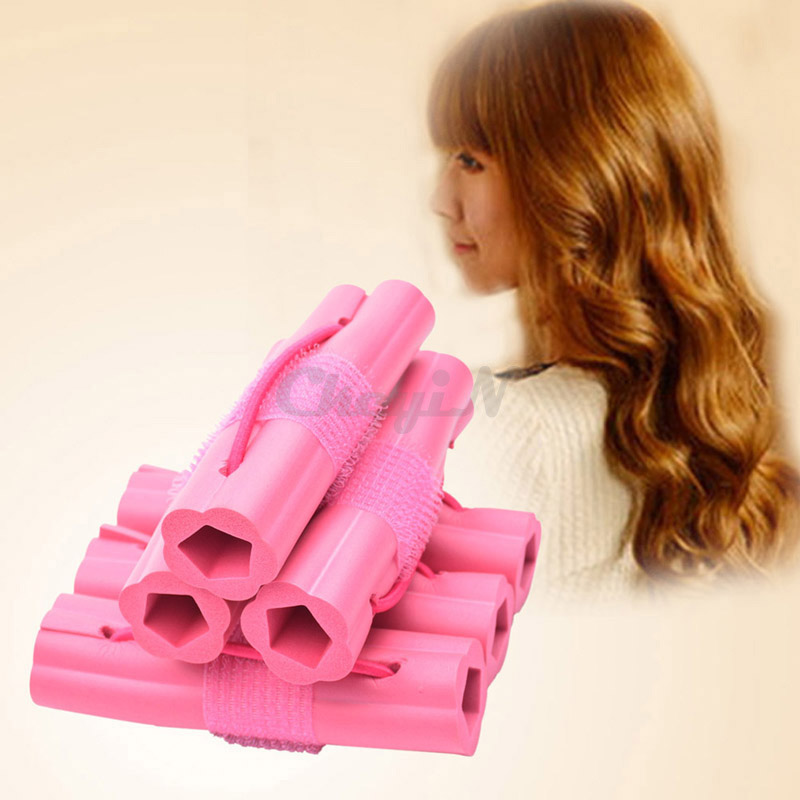 6Pcs Magic Hair Curler Fashion Sponge Hair Roller Hair Styling DIY Personal Sleep Foam Curlers Tool Easy Use & Cozy Wear 41_7405(China (Mainland))