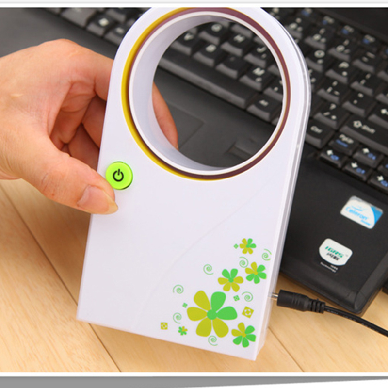 2016 Summer Office Portable Handheld Mini Usb Fan No Blades Handhold No leaf Fans Electric Bladeless Cooler Air Condition(China (Mainland))