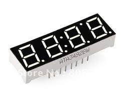 """0.56"""" Common Anode 4Digit Red LED 7-Segment Time Display 14Pin 50*19*7.8mm 20pcs/lot Free Shipping"""