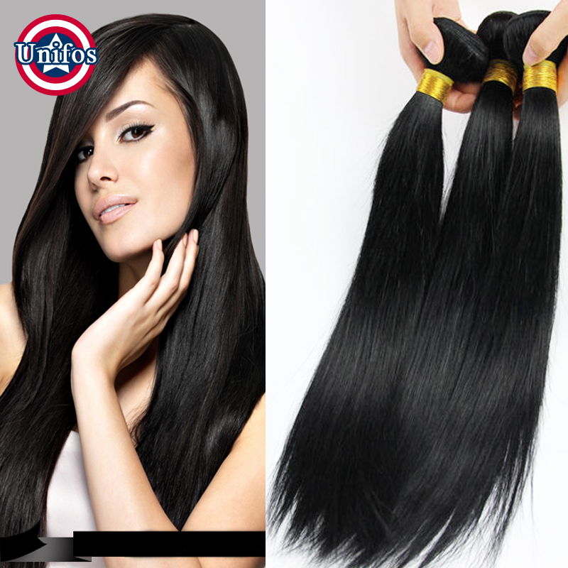 4 Bundles Malaysian Straight Hair Jet Black Malaysian Virgin Hair Grade 6A Unprocessed Virgin Hair Straight Malaysian Human Hair