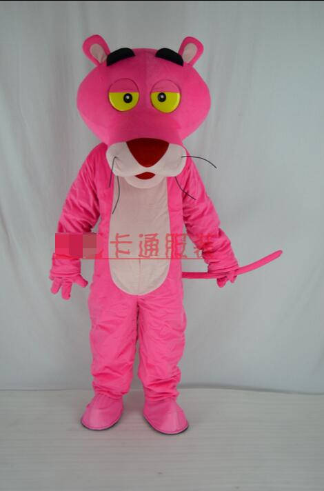 2017 new Adultes vente Pink Panther Costume de mascotte Fancy Dress Pink Panther Mascot Costume livraison gratuite EVA texture(China (Mainland))