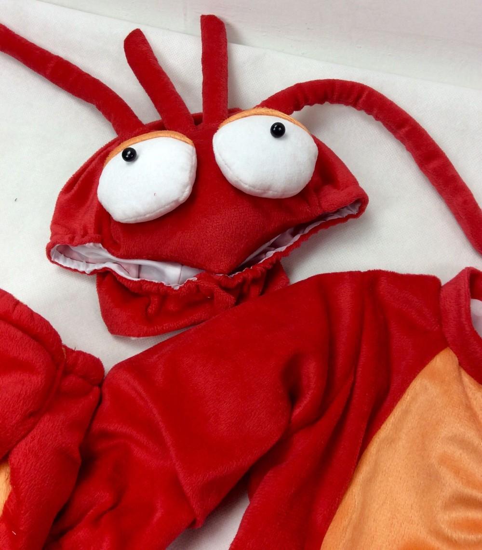 Скидки на 2016 Новое Прибытие Младенца Высокого Качества Мальчики Девочки Хэллоуин lobsterCostume Ползунки Дети Комплект Одежды Малыша Co-скошенный