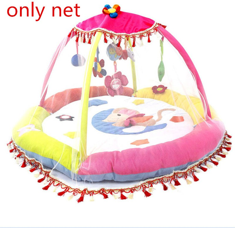cute musical baby play rug mosquito net fashion baby's gym mat net gift toys for all size mat