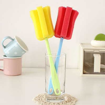 Creative kitchen sponge cup cleaning utensils clean scrub brush handle extension 36216 - Sample Household products store