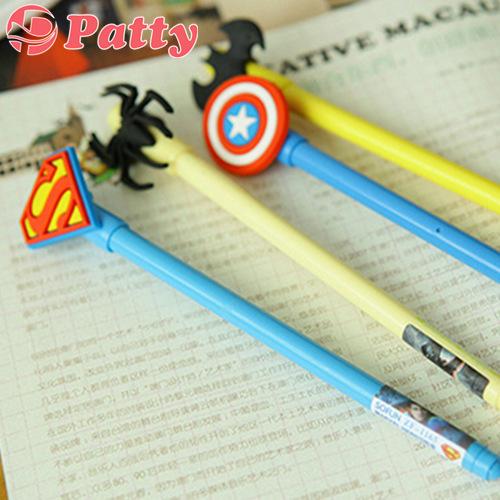 144 pc/Lot Super hero Gel pen Batman Spiderman pen Gift escolar office material school supplies Patty stationery papelaria F790<br><br>Aliexpress