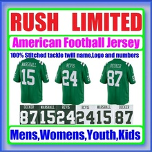 Color Rush Limited Jersey Brandon Marshall Custom Darrelle Revis Stitched Eric Decker Cheap Authentic Sport Jerseys Direct China(China (Mainland))