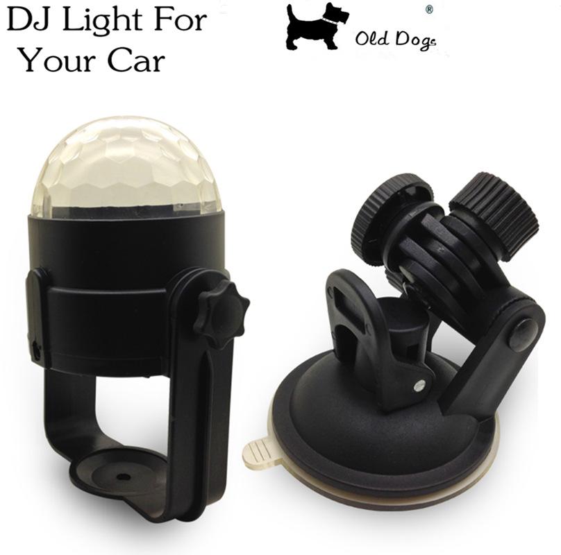 6W RGB Music rhythm activated DJ disco stage effects Bracket line usb 12V mini LED car decoration light automobile lamp bulb(China (Mainland))