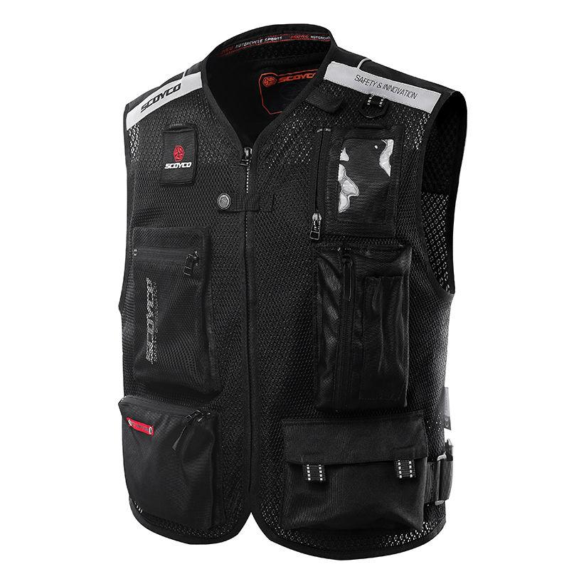 Scoyco JK46 безопасности светоотражающий одежды мотоодежда отражая гонки защитный жилет Visbility Moto безопасности мотоцикл из светодиодов свет